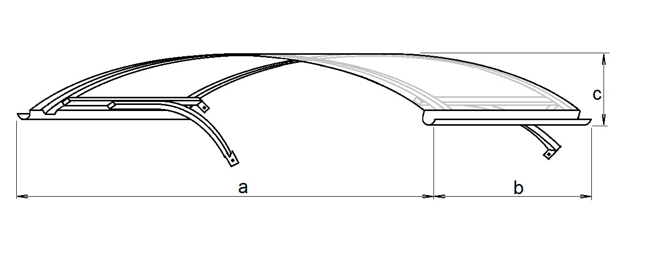 drawing of Arco roof